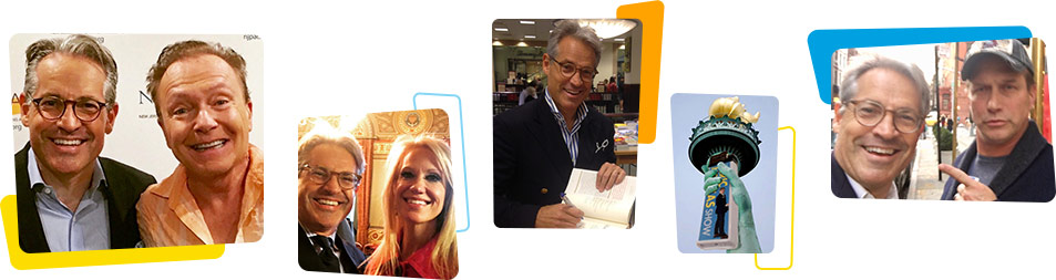 Pictures of gueats with Eric Metaxas